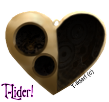 Steampunk heart brushes by t-lider