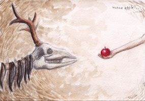 Wanna apple?.. by Aisha-Autumn