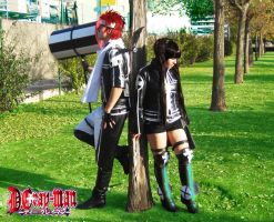 Lenalee and Lavi by LeydaCosplay