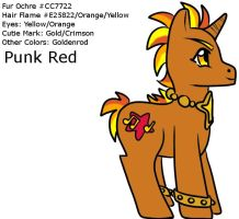 MLP - Punk Red Profile FIN by Wildnature03