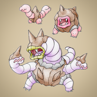Earthworm Fakemon by FakeMakeT