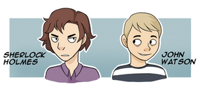 Sherlock and John headshots by Amphany