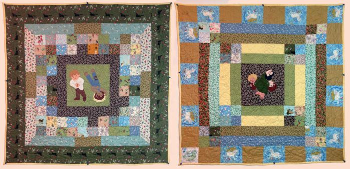 Quilt for J - front and back by ChristineVCarter