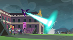 Midnight Sparkle destroying the Wondercolt statue  by Mark42-IronManMg