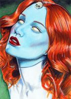 Sketch Card 3 - Mystique by veripwolf