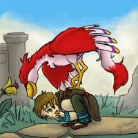 Little Link and his Loftwing by Backseat-Menagerie