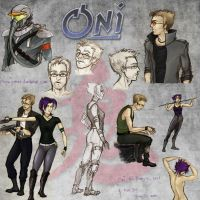 Oni sketches 2-11 by snow-jemima