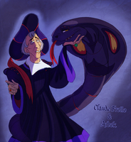 Claude Frollo and his Arbok who matches his clothz by Konnestra