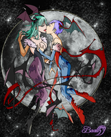 Morrigan and lilith by eddbz