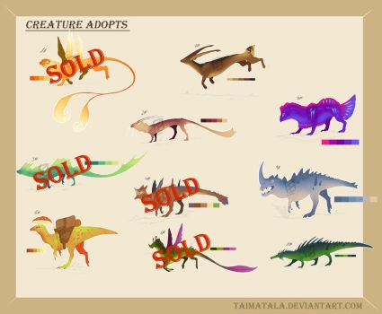 Creature Adopts 2# - (9 /10) -OPEN- by TaimaTala