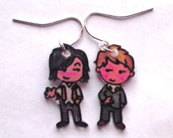 Remus and Sirius earrings SBP by Lovelyruthie