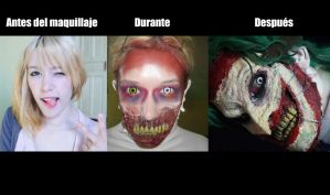 Before / After Joker new52 makeup By Grecia Villar by PrincessOfCrime