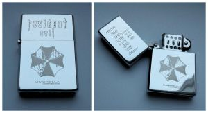 RESIDENT EVIL - engraved lighter by Piciuu