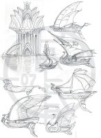 Sailship concept sketches by balaa
