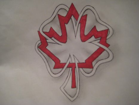 Celtic Canadian Maple Leaf and Four Leaf Clover by thewisesloth