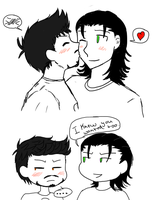Loki and Tony smooch by Lil-lamb90