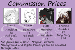 Commission Prices Updated by TruSpiritWolf