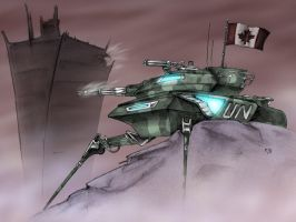 Canadian Futuristic Tank by dragonchilde