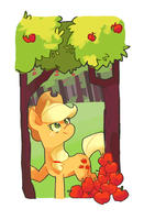 Applejack in the field by Nifty-senpai