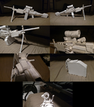 Paper M249 SAW Updated by TheFavGentleman