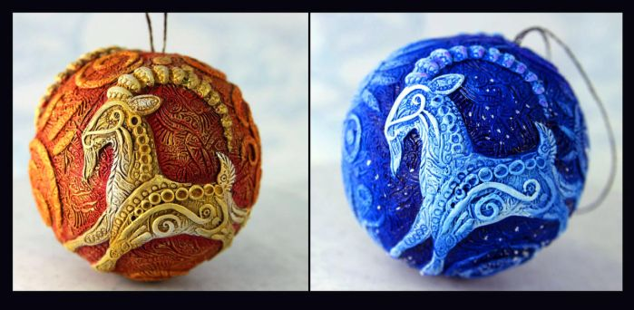 Goat year ornaments by hontor