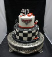 Cars cake round 2 by ninny85310