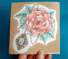 Free Rose and Amulet Tattoo Design by Madeline-Cornish