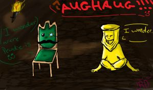 Mr.Chair and Stephano by randomducky88