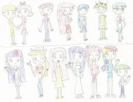 HTF and MLP characters chart by Toongirl18