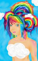 Rainbow Chick by ArtWeirdo44