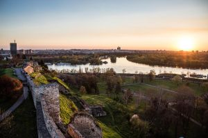 Belgrade fortress at sunset by MilanNikolaPetrovic