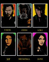 Thor Characters by RetardMessiah