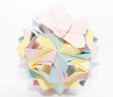 little island kusudama by leezarainboeveins
