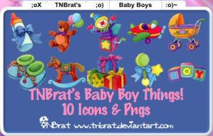 Baby Boy Things Icons Pngs by TNBrat