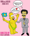 Borat meet SIMPSONS by RegisCartoons