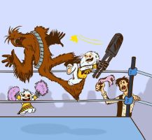 Chewbacca vs alushe 2 by Mataketa-azul