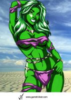 Savage Land She Hulk by Mythical-Mommy