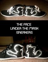 the face under the mask sneakers! 2 versions by Nummonkee