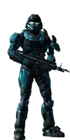 My Spartan from Halo: Reach by Unh0lyfurball