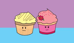 Haymitch and Effie as Cupcakes by justastudent996