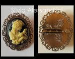 Girl cammeo brooch by SilvieTepes
