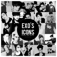 EXO's icons (Black and White) by kimyounin