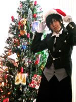 Sebastian Michaelis Christmas by blondewolf2