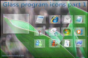 Glass program icons by tonev