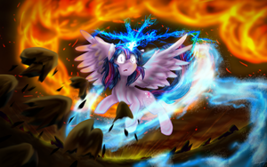 Twilight Sparkle - Elemental Master by Tailzkip
