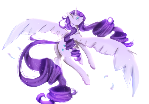 Alicorn Rarity by xKittyblue