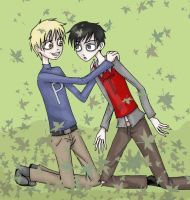 Playing in the Leaves...o_o by Zombie-Pip