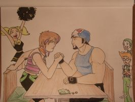 Gotham High - Arm Wrestling by fan-of-a-thousand