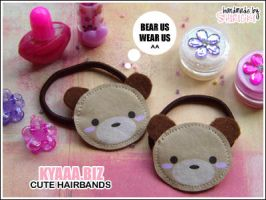 kyaaa.biz - Bear Hairbands by shiricki