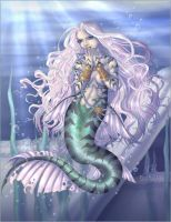 Pensive Mermaid by akain